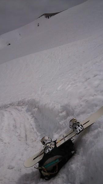 立山 雄山 山崎カール スノーボード