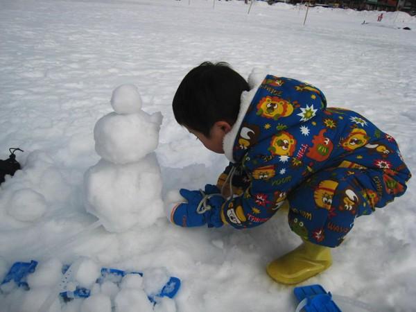 赤城山大沼凍結