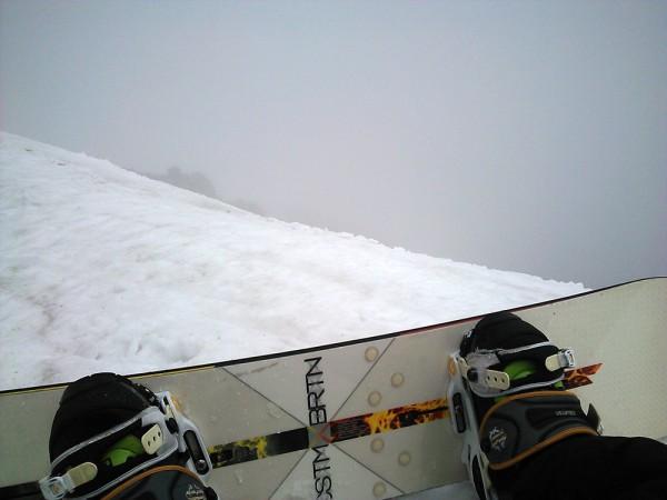 乗鞍岳 頂上 BCスノボ